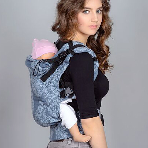 Buckle Baby Carrier: Back Carry