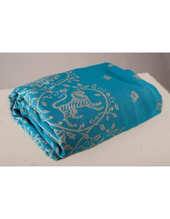 Barocco Lions 100% cotton: Turchese