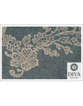 Reticella 100% Cotton: Marrone Blu
