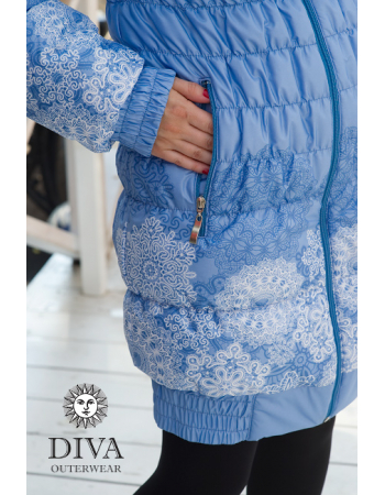 Babywearing Coat 3 in 1 (high-warm), Bianco