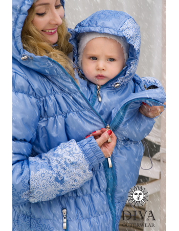 Babywearing Coat 3 in 1 (high-warm), CelesteBabywearing Coat 3 in 1 (high-warm), Corallo