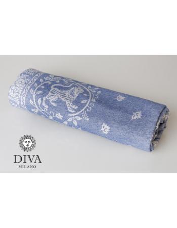 Barocco Lions 100% cotton: Blu