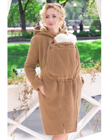 Babywearing Wool Winter Coat, Camello