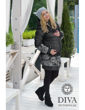 Babywearing Winter Coat 3 in 1, Nero