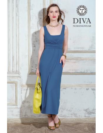 Nursing Dress Diva Nursingwear Alba Maxi Sleeveless, Notte