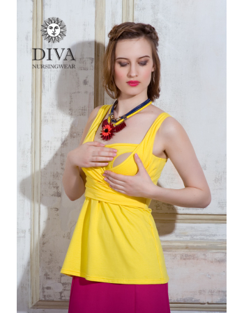 Nursing Dress Diva Nursingwear Alba, Limone