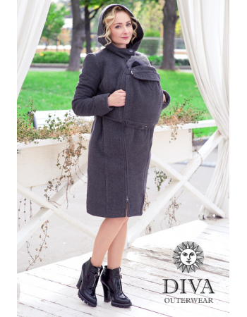 Babywearing Wool Winter Coat, Antracite