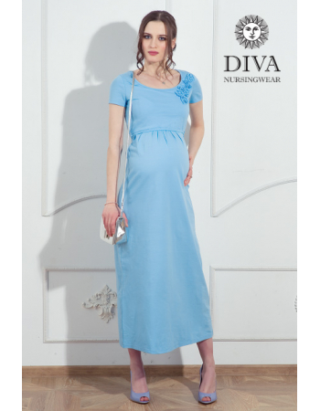 Nursing Dress Diva Nursingwear Dalia, Celeste