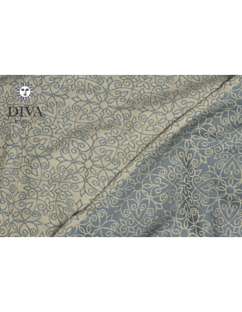 Diva Basico Mei Tai 100% cotton: Damasco