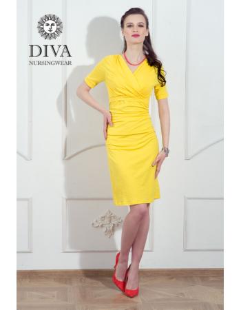 Nursing Dress Diva Nursingwear Lucia, Limone