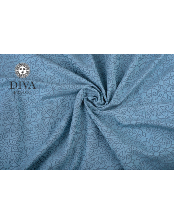 Diva Basico Mei Tai 100% cotton with a hood: Luna