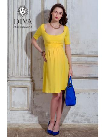 Nursing Dress Diva Nursingwear Stella, Limone