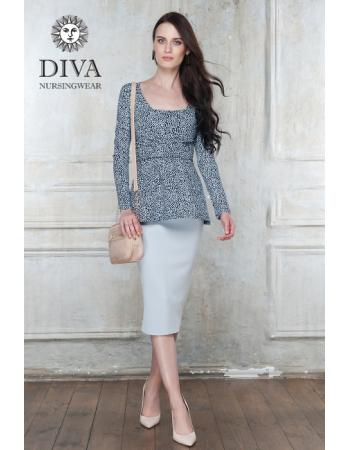 Nursing Top Diva Nursingwear Alba Long Sleeved, Domino