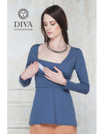 Nursing Top Diva Nursingwear Alba Long Sleeved, Notte