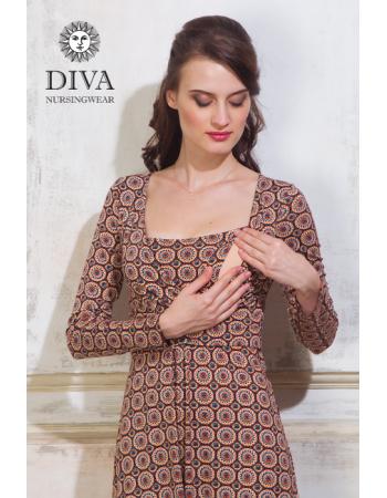 Nursing Dress Diva Nursingwear Alba Long Sleeved, Sole
