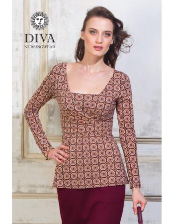 Nursing Top Diva Nursingwear Alba Long Sleeved, Sole