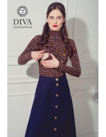 Nursing Top Diva Nursingwear Felisa Strisce, Terracotta
