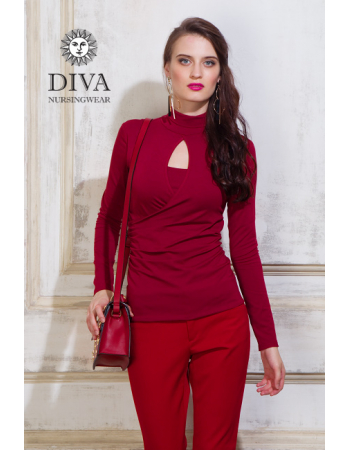 Nursing Top Diva Nursingwear Maura, Berry