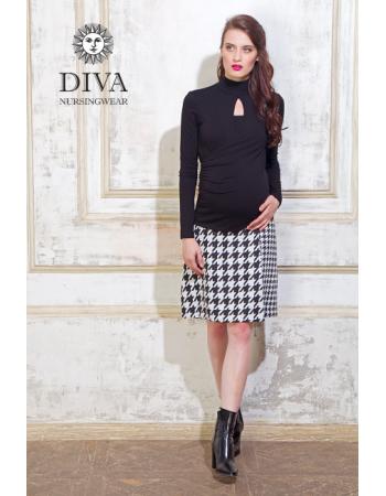 Nursing Top Diva Nursingwear Maura, Nero