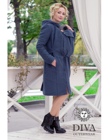 Babywearing Wool Winter Coat, Notte