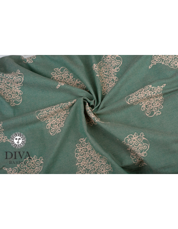 Diva Basico Mei Tai 100% cotton with a hood: Pino