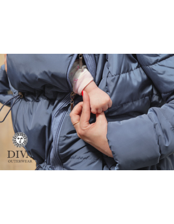 Babywearing Coat 4 in 1 (medium-warm) with a Back-Carry Option, Notte
