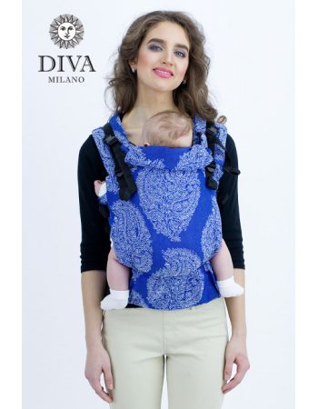 Diva Essenza Wrap Conversion Buckle Carrier: Azzurro Bamboo, The One!