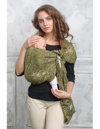Simple Ring Sling Bayushka, Khaki - 2-LayeredSimple Ring Sling Bayushka, Khaki - 2-Layered