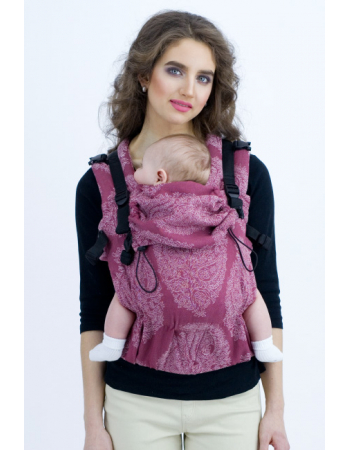 Diva Essenza Wrap Conversion Buckle Carrier: Berry Linen, The One!