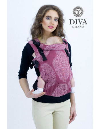 Diva Essenza Wrap Conversion Buckle Carrier: Berry Bamboo, The One!