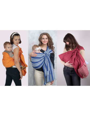 Simple Ring Sling Bayushka, Jeans Blue - 2-Layered