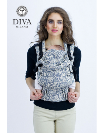 Diva Milano LE Wrap Conversion Buckle Carrier: Veneziano Eclipse with Silk