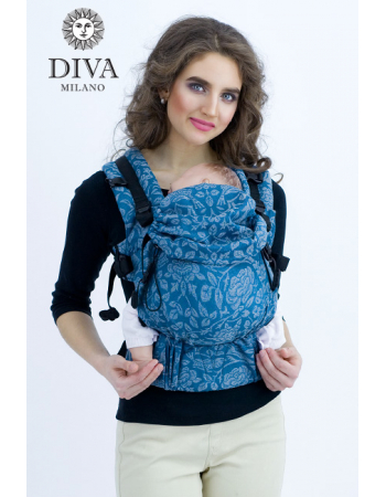 Diva Milano LE Wrap Conversion Buckle Carrier: Diamante Petrel