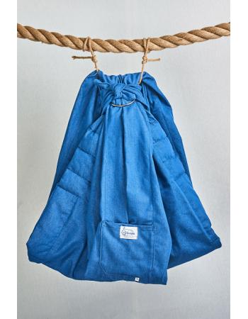 Simple Ring Sling Bayushka, Jeans Blue - 2-Layered