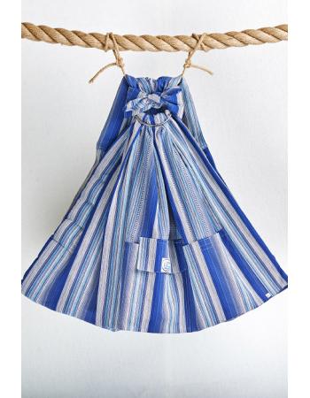 Simple Ring Sling Bayushka, Blue Stripes - 1-Layered