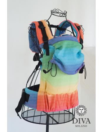 Diva Didymos LE Wrap Conversion Buckle Carrier: Lisca Rainbow