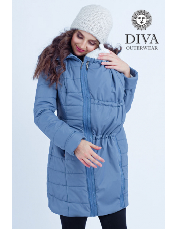 Babywearing Coat 4 in 1 (medium-warm) with a Back-Carry Option, Pietra