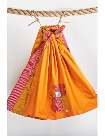 Simple Ring Sling Bayushka, Orange Stripes - 2-Layered
