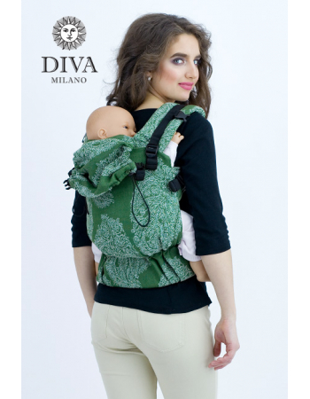Diva Essenza Wrap Conversion Buckle Carrier: Smeraldo Linen, The One!