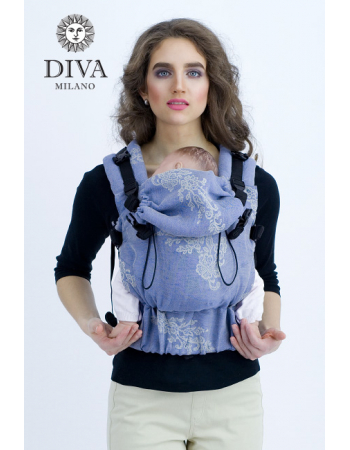 Diva Milano LE Wrap Conversion Buckle Carrier: Reticella Notte Linen