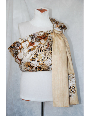 Simple Ring Sling Bayushka, Savanna - 2-Layered
