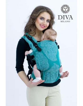 Diva Essenza Wrap Conversion Buckle Carrier: Smeraldo Linen, The One!