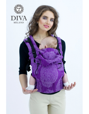 Diva Essenza Wrap Conversion Buckle Carrier: Viola Bamboo, The One!