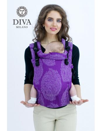 Diva Essenza Wrap Conversion Buckle Carrier: Viola Linen, The One!