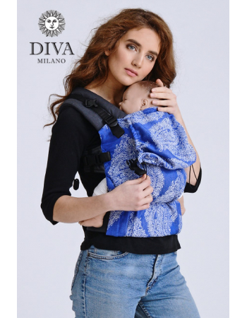 Diva Half Wrap Conversion Buckle Carrier: Azzurro Linen, The One!