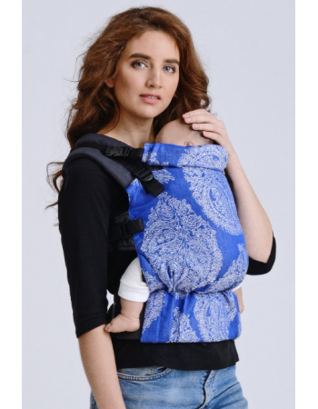 Diva Half Wrap Conversion Buckle Carrier: Azzurro Linen, The One!