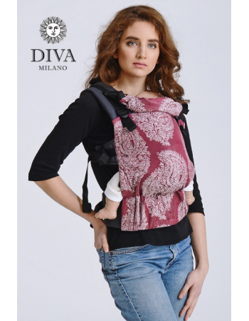 Diva Half Wrap Conversion Buckle Carrier: Berry Linen, The One!