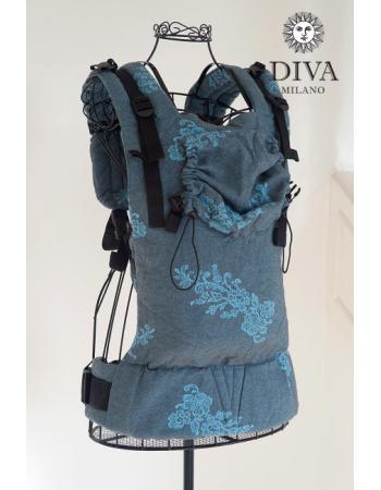 Diva Milano LE Wrap Conversion Buckle Carrier: Reticella Diamante CieloDiva Milano LE Wrap Conversion Buckle Carrier: Reticella Diamante Cielo