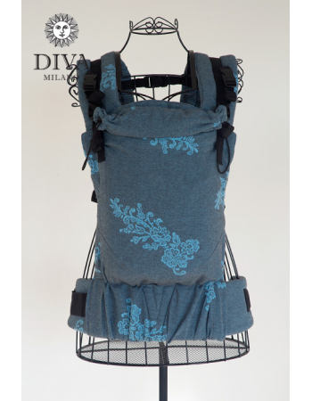Diva Milano LE Wrap Conversion Buckle Carrier: Reticella Diamante Cielo
