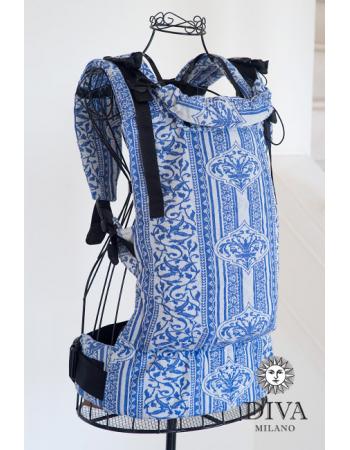 Diva Milano LE Wrap Conversion Buckle Carrier: Flora Blu